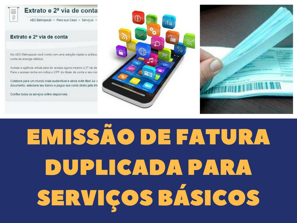 Emissão de segunda vía y pagamento do serviços básicos