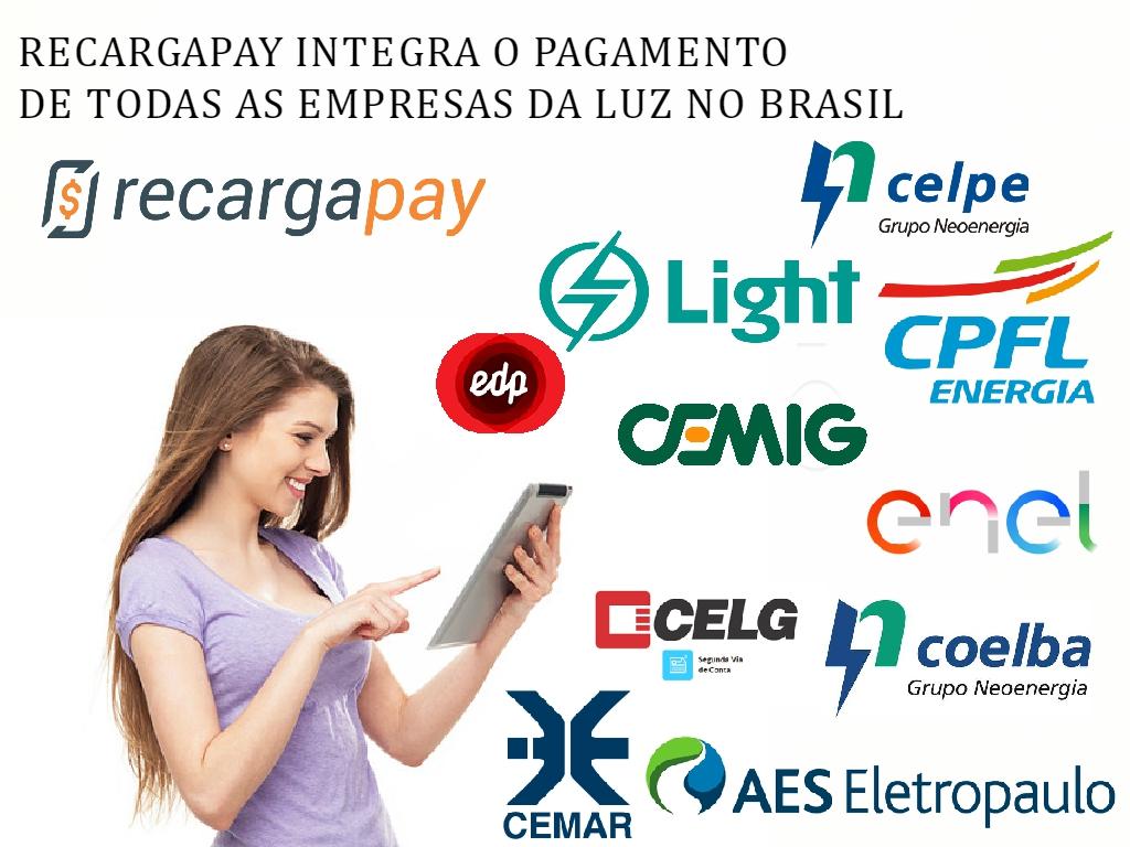 Recargapay eo pagamento de luz com todas as empresas