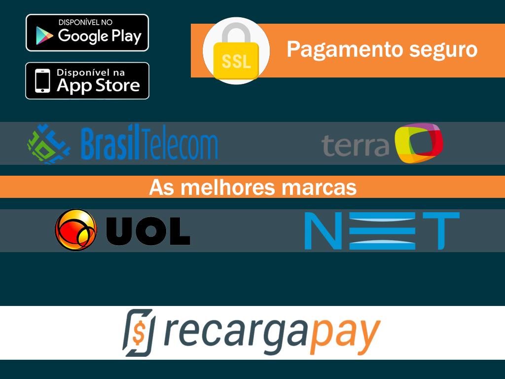 Faz o pagamento pelo celular das contas das principais empresas de internet, Brasil Telecom, Terra, UOL e NET