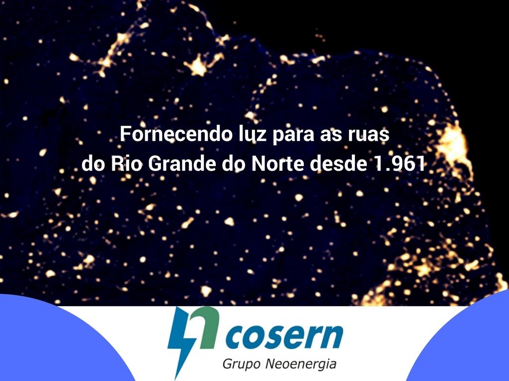 Fornecendo luz para as ruas do Rio Grande do Norte