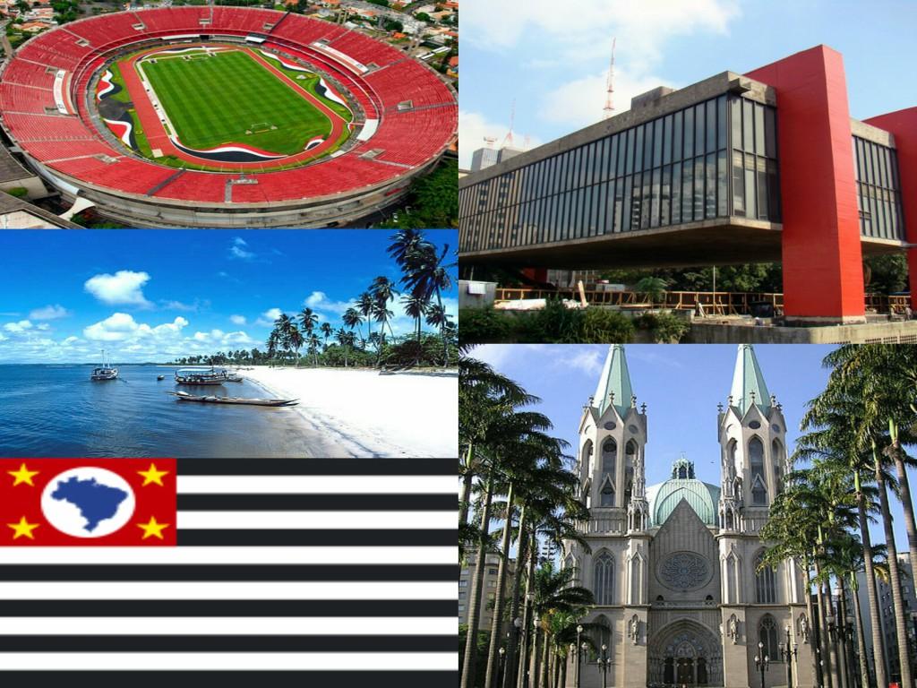 Os locais turísticos em Sao Paulo e os símbolos pátrios