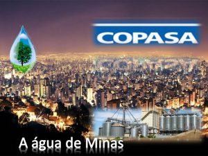 Copasa a água de Minas