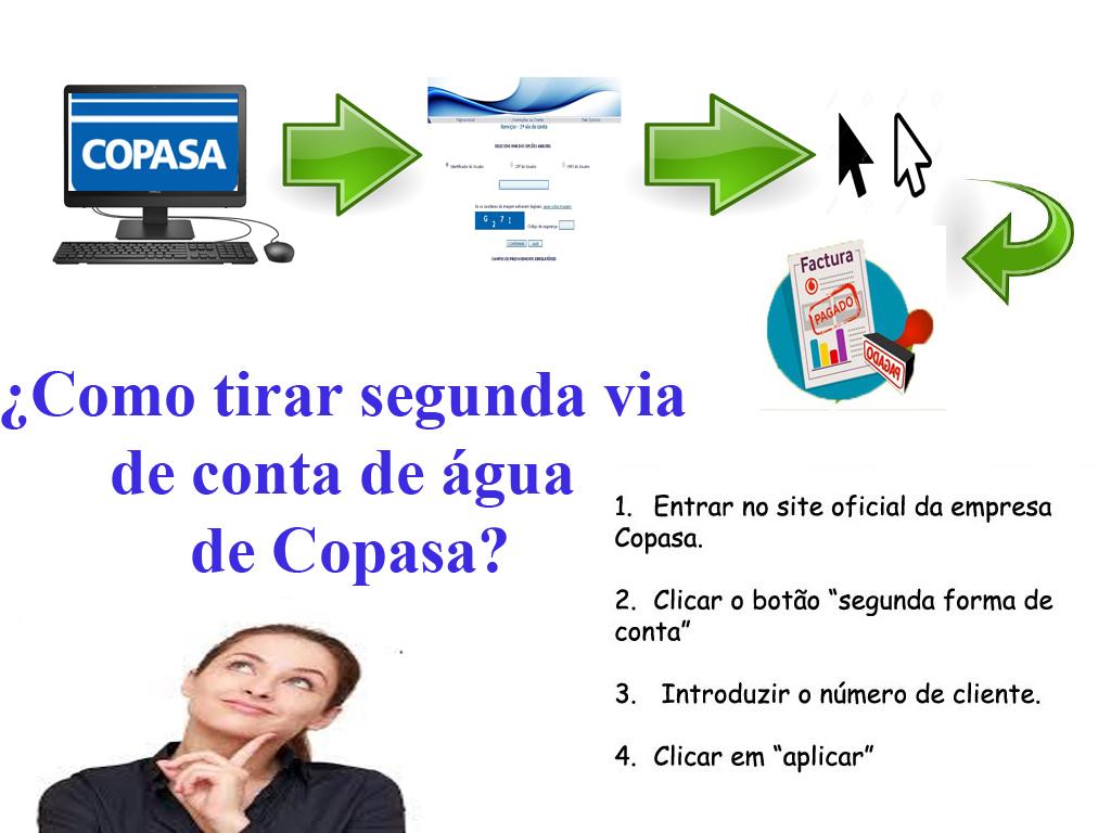 Passos para emitir segunda via de água Copasa online