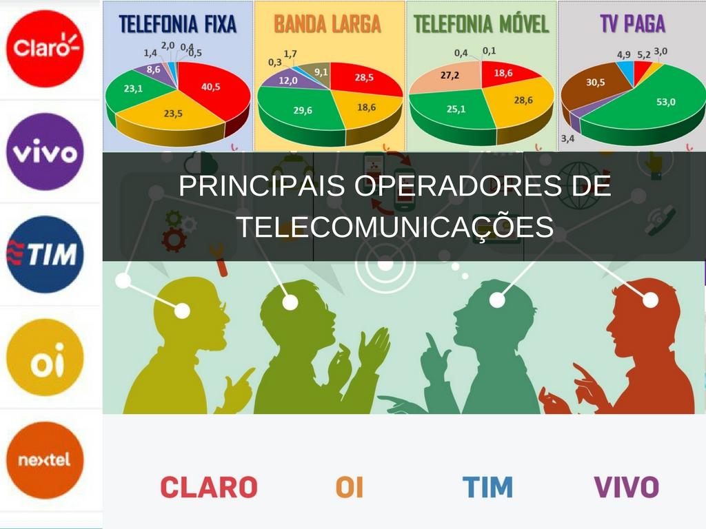 Principais operadores de telecomunicações