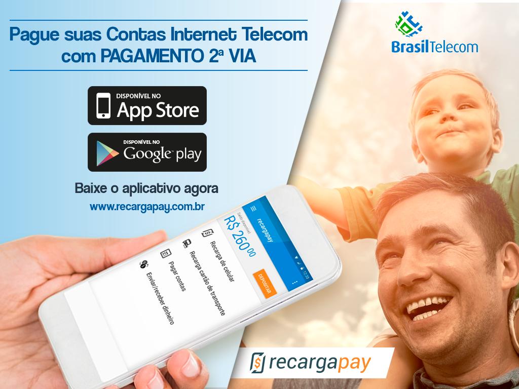 Pague sua segunda vía internet com Telecom