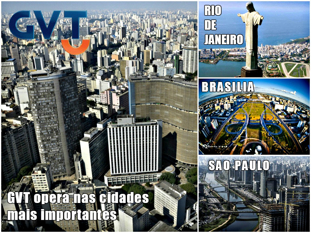 Cidades mais importantes donde opera GVT