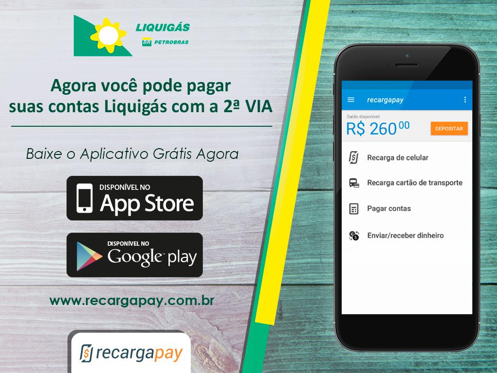 Agora você pode pagar suas contas liquigás com a 2ª via através de Recargapay