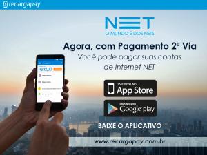 Pagamento segunda via de serviços de internet de a empresa NET