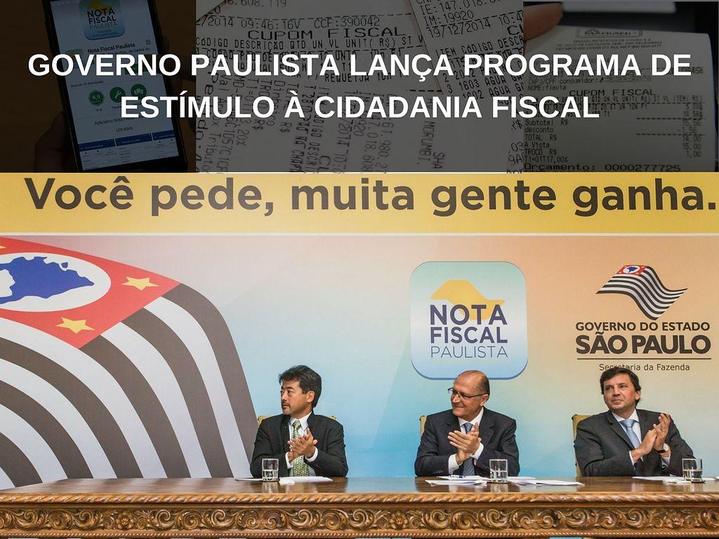 Governo paulista lança programa de estímulo à cidadania fiscal