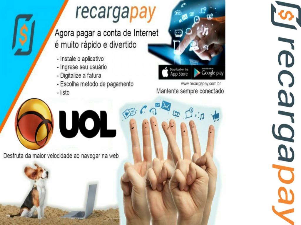 Pague sua conta de internet UOL com RecargaPay
