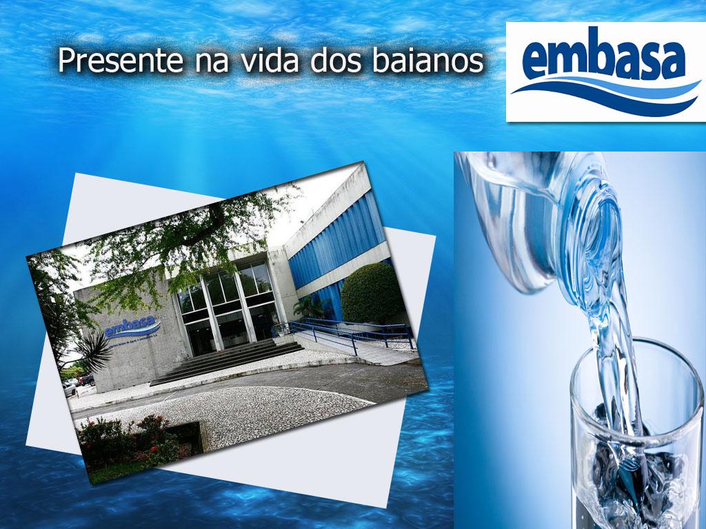 Serviços de água da Empresa Embasa em Salvador