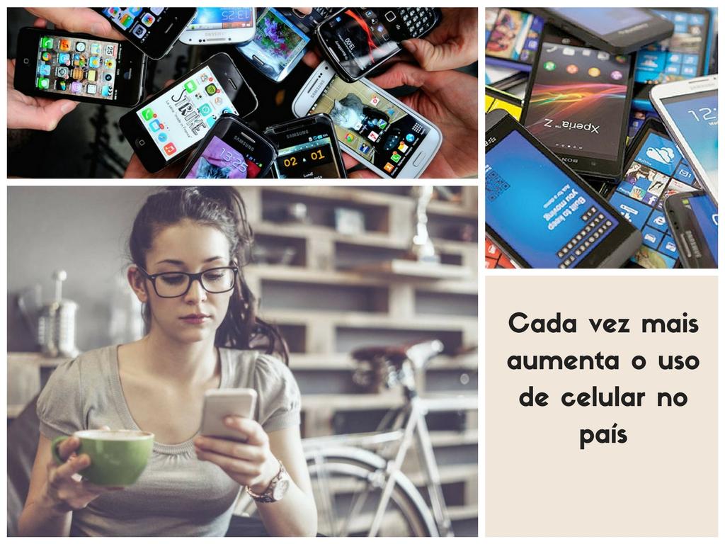 Cada vez mais aumenta o uso de celular no Rio de Janeiro
