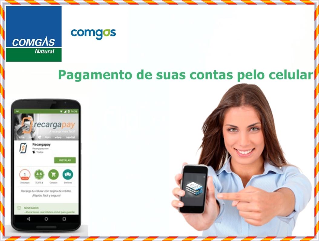 Pagamento de suas contas de Comgas pelo celular