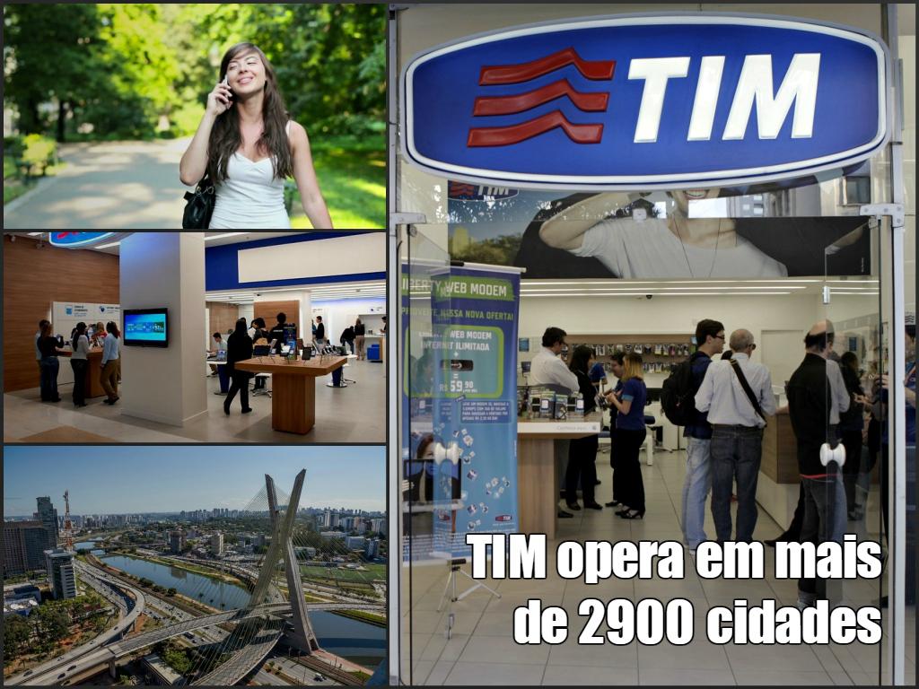 TIM telecomunicações serve a mais de 2900 cidades