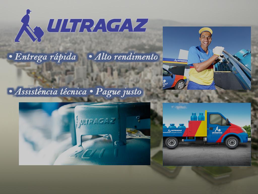 esta imagem mostra-te os serviços de Ultragaz para fazer pagamento de contas pelo celular