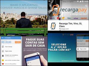Esta imagem mostra-te o aplicativo de Recargapay