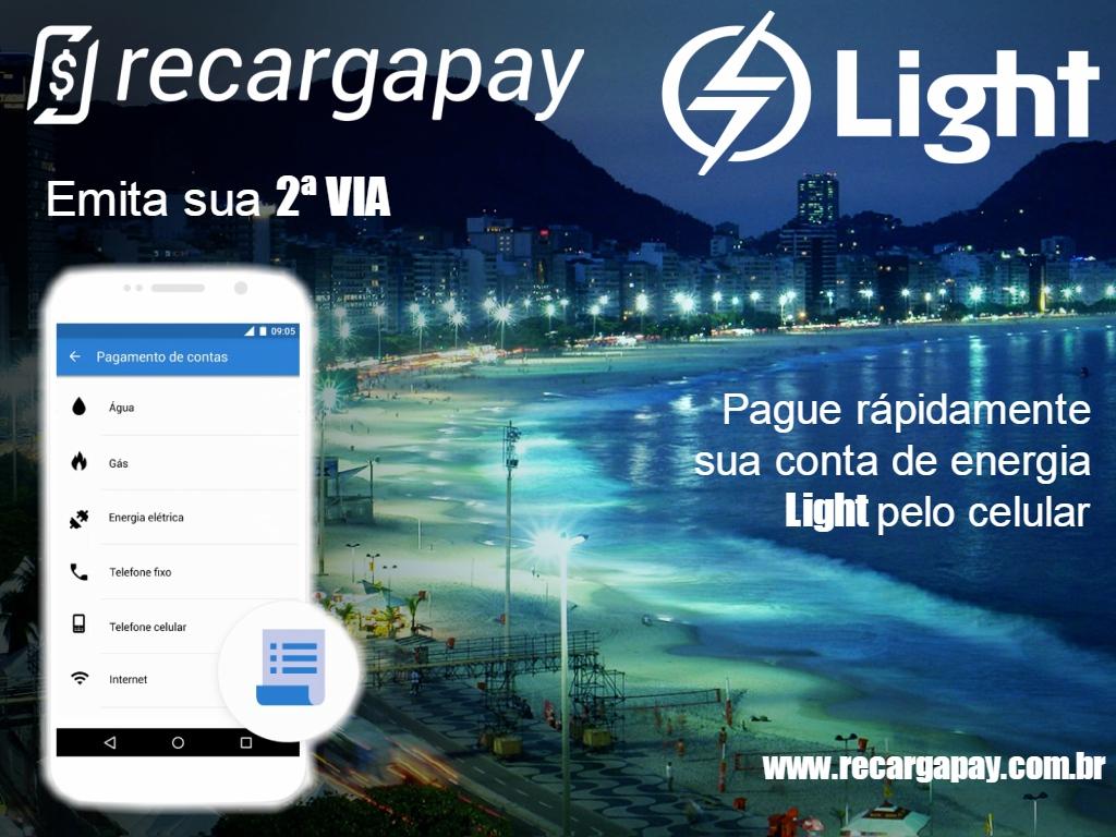 Pague sua a segunda via de sua conta de Light pelo celular em Rio de Janeiro