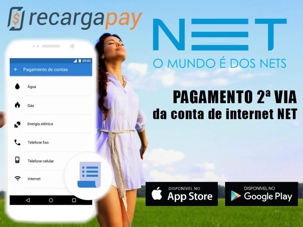 faça o pagamento por 2da via da conta net pelo celular