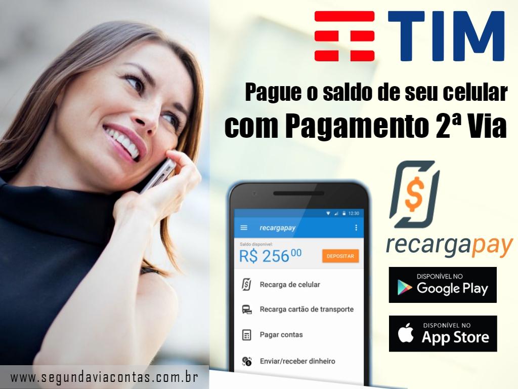 Pague o saldo de seu celular de linha TIM com pagamento por 2da via
