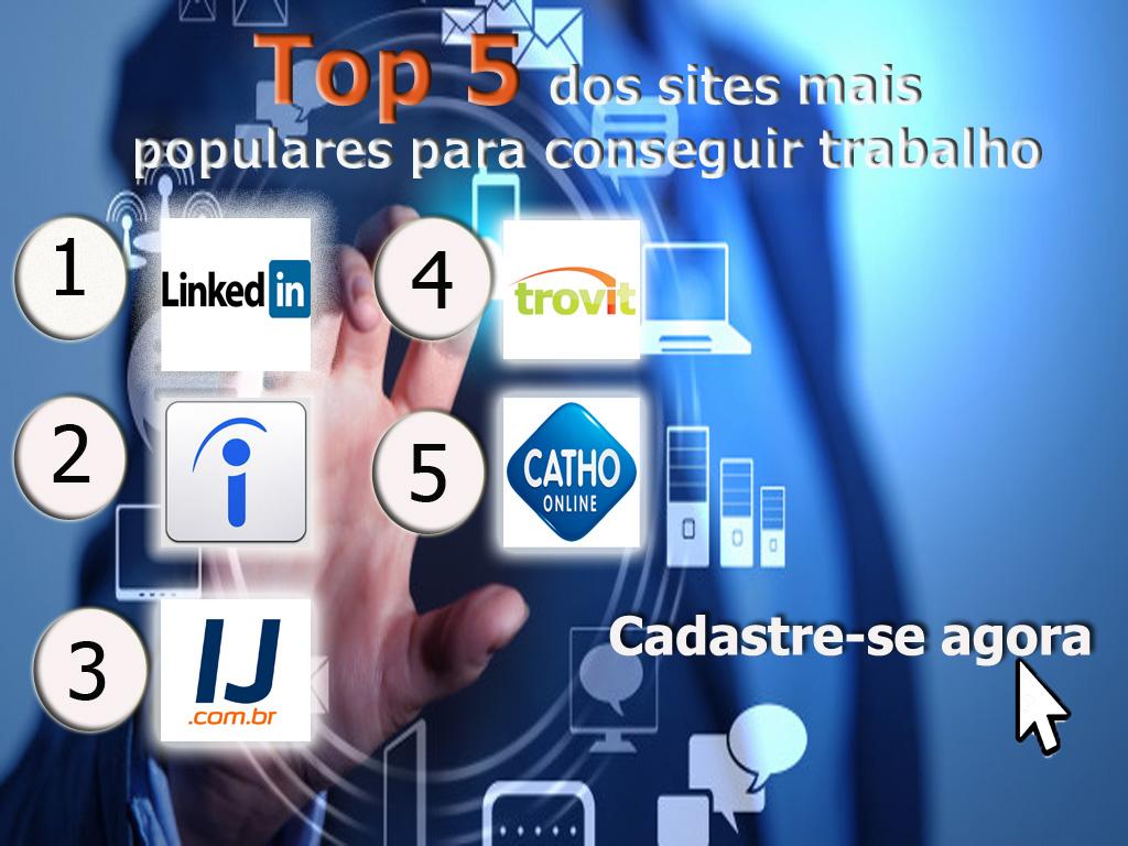 Top 5 dos sites mais populares para conseguir trabalho