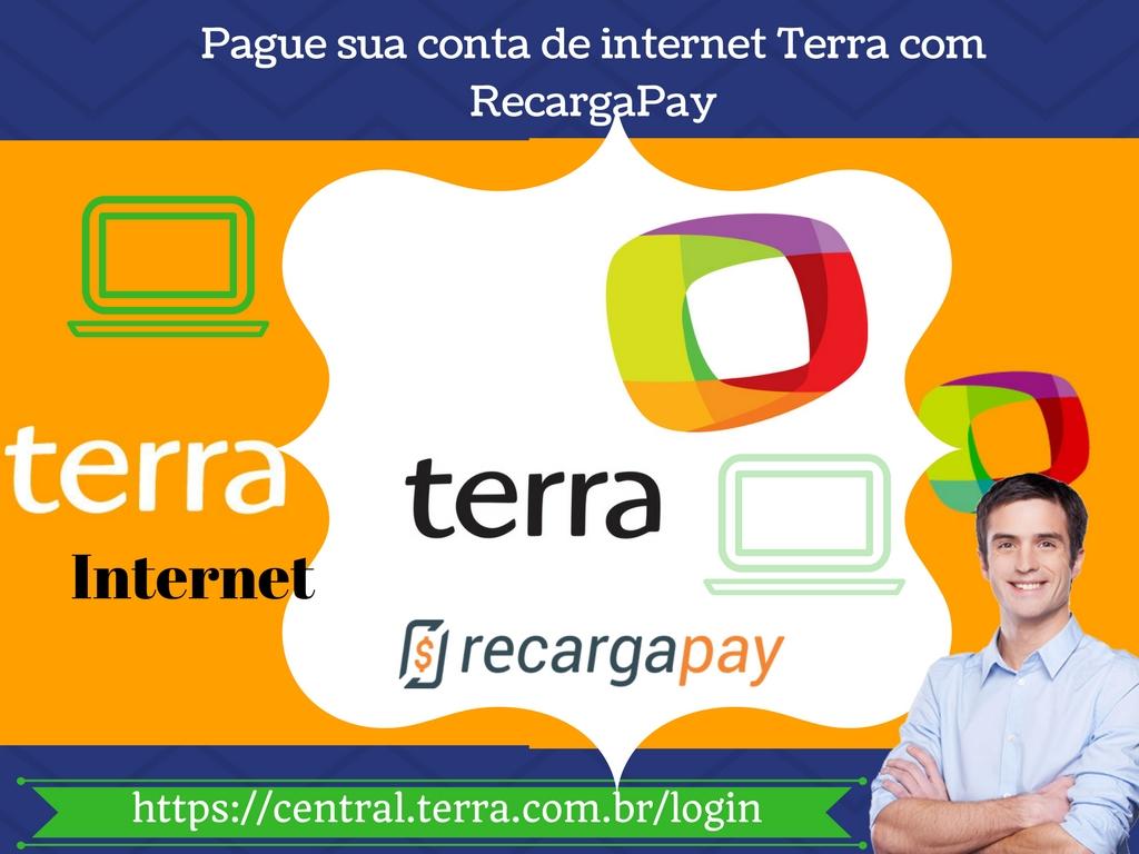 Conheca os servicos e pague sua conta de internet Terra pelo celular