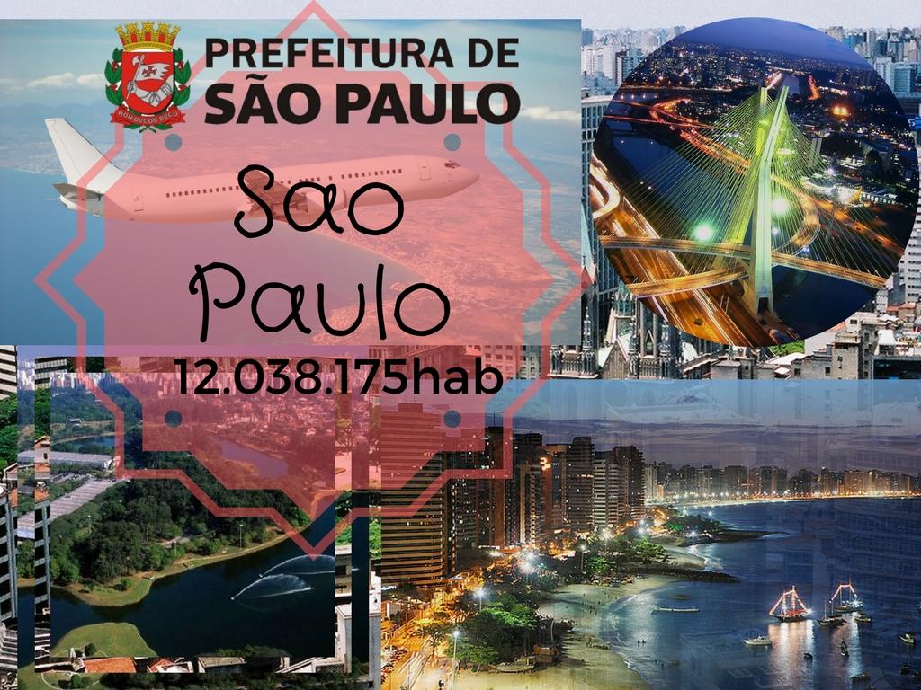 Sao Paulo a cidade com maior população e principal centro financeiro