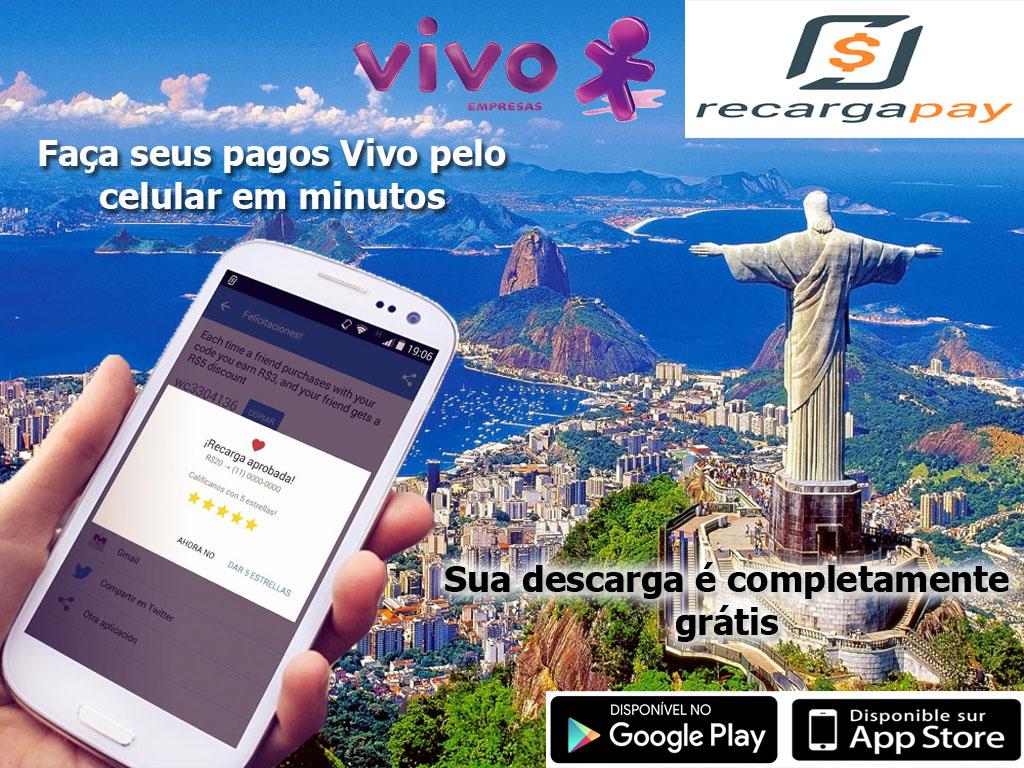 Pagamento da 2da via conta de celular VIVO pela internet na cidade de Rio de Janeiro