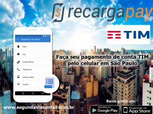 Faça seu pago da conta TIM pelo celular em São Paulo