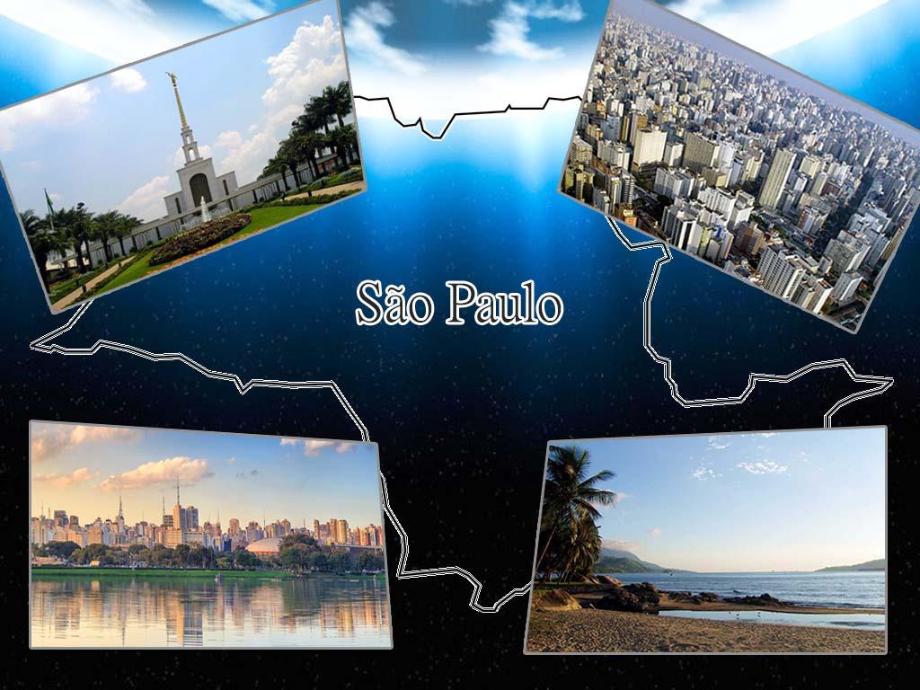 algumas das zonas turísticas de Sao Paulo