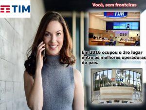 A empresa de telefonía TIM