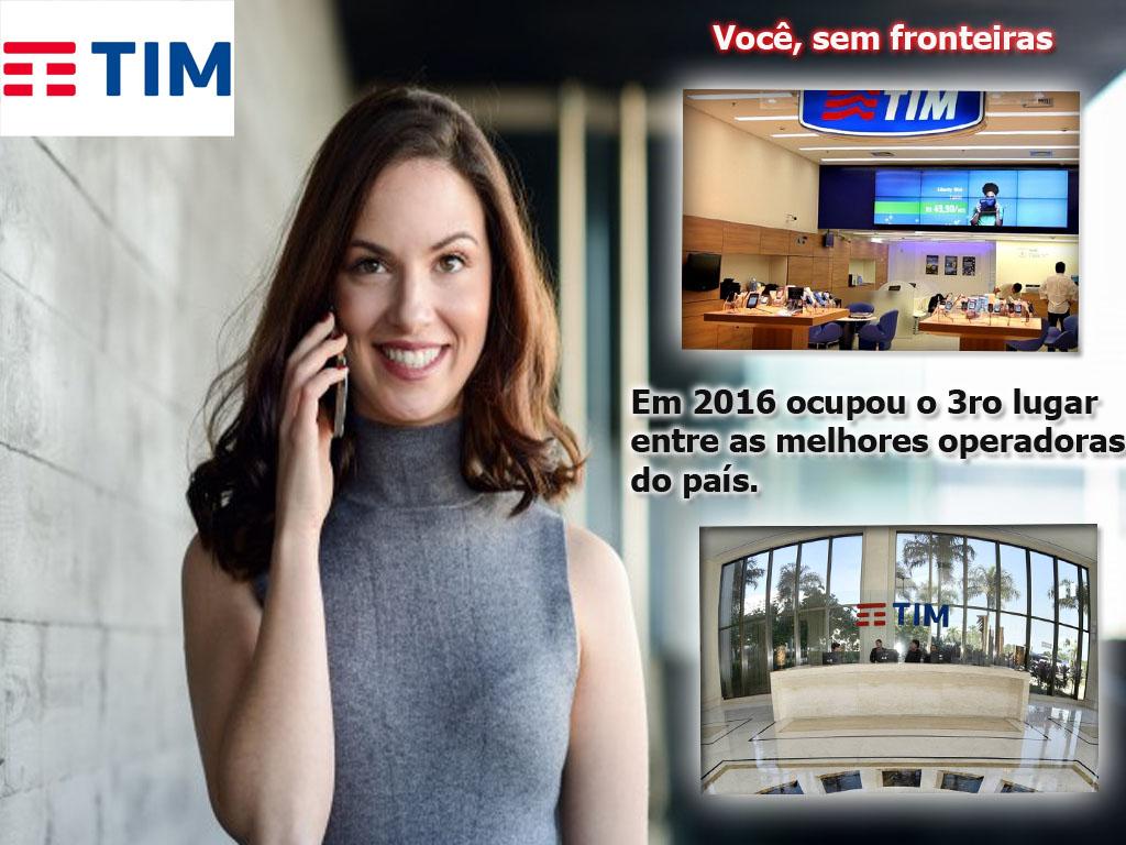 A empresa de telefonía TIM como a 3ra maior operadora de telefonia do país