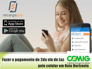 fazer o pagamento de segunda via de Luz Cemig pelo celular em Belo Horizonte