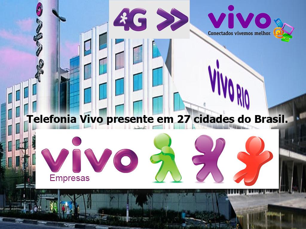 Alcance do servico de Telefonia Vivo presente em 27 cidades