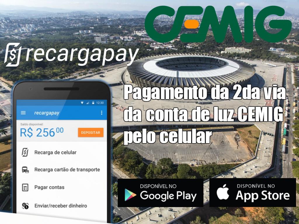 Pagamento da 2da via da conta de luz CEMIG pelo celular em Belo Horizonte