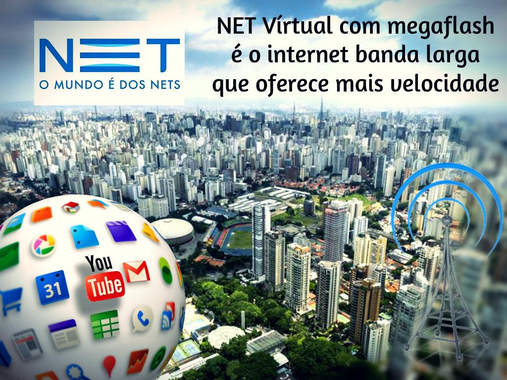 NET Vírtual oferece mais velocidade de internet