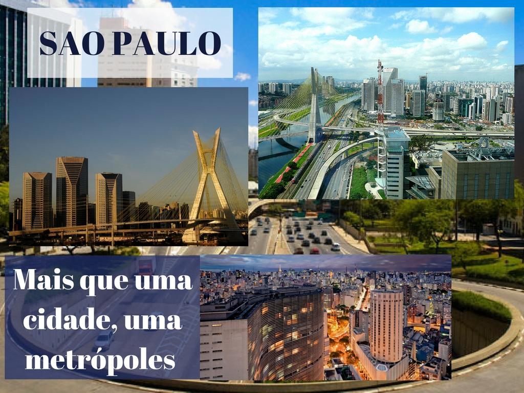 A grande metrópole de São Paulo