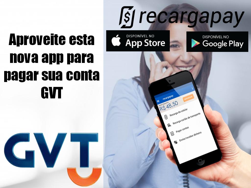 Aproveite esta nova app para pagar sua conta GVT