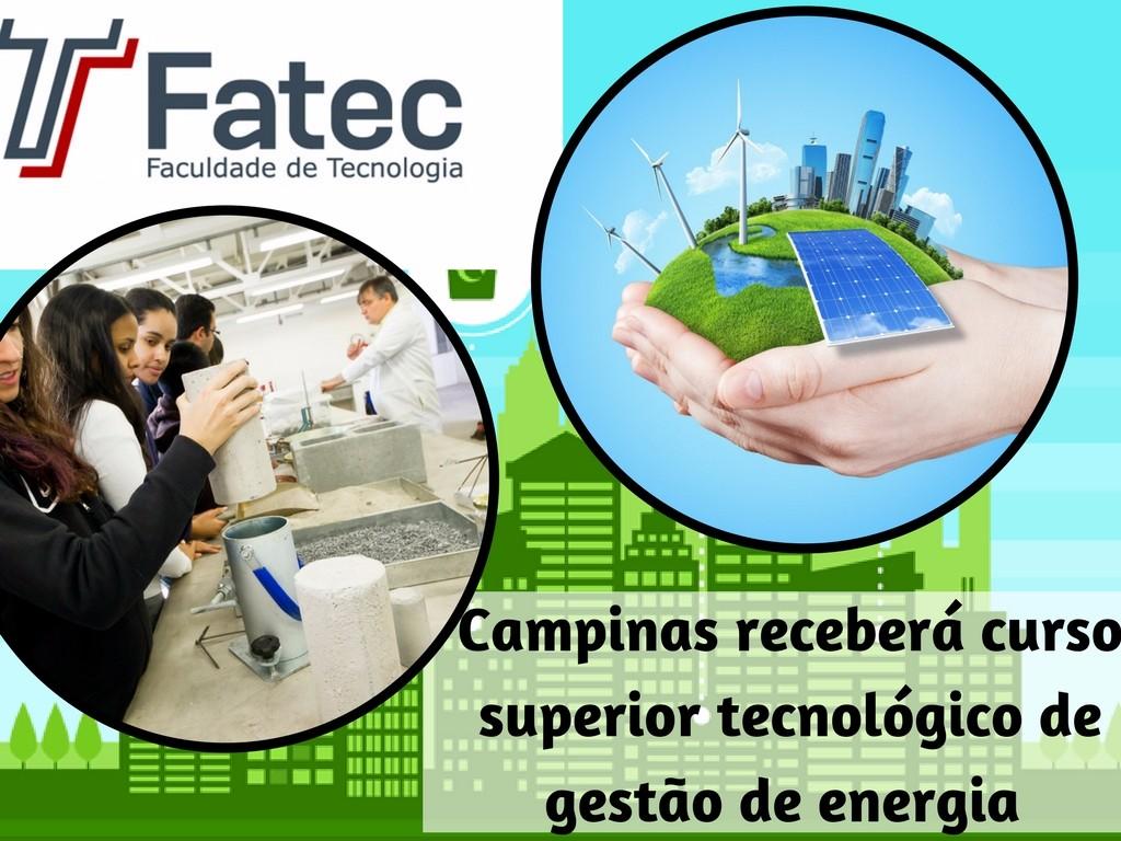 Campinas receberá curso superior tecnológico de gestao de energia