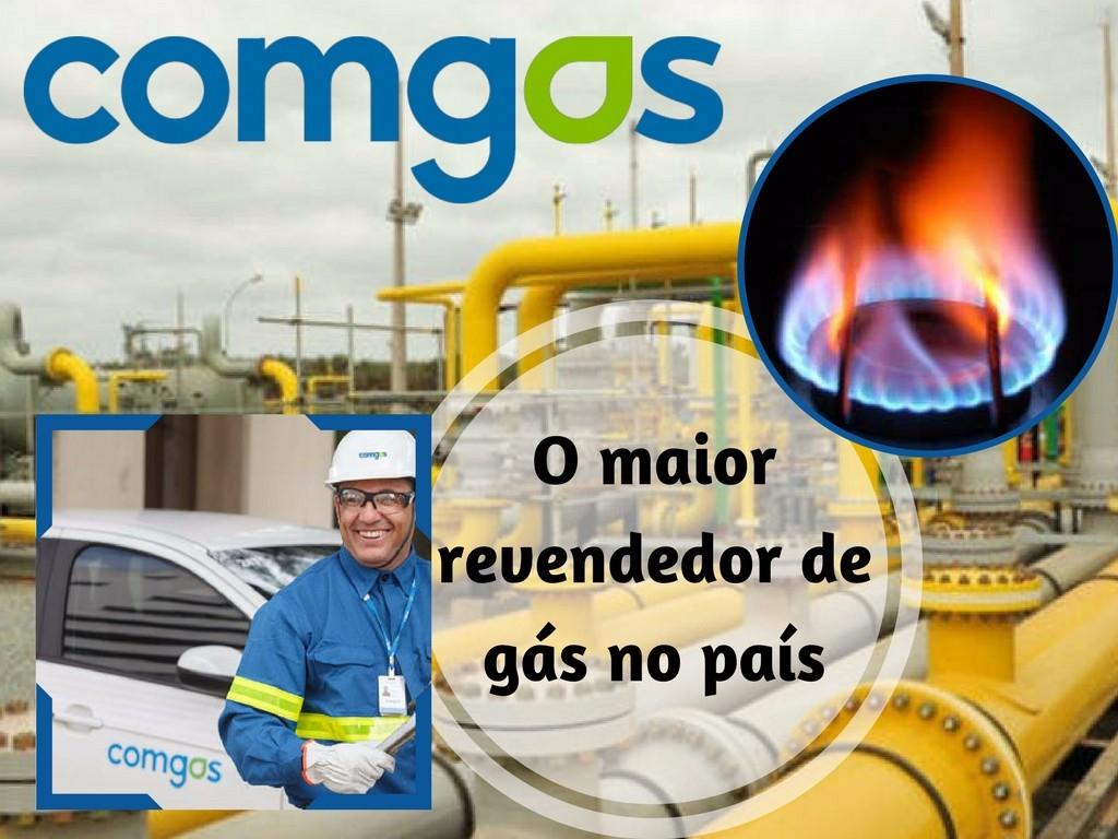 Comgas o maior revendedor de gás do país
