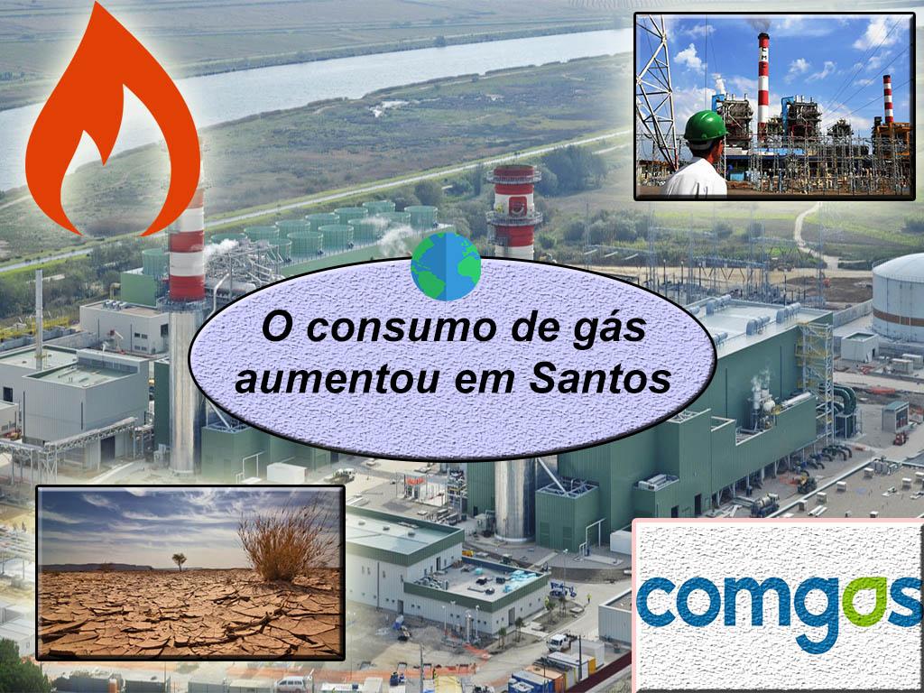 Noticia do consumo de gas em Santos