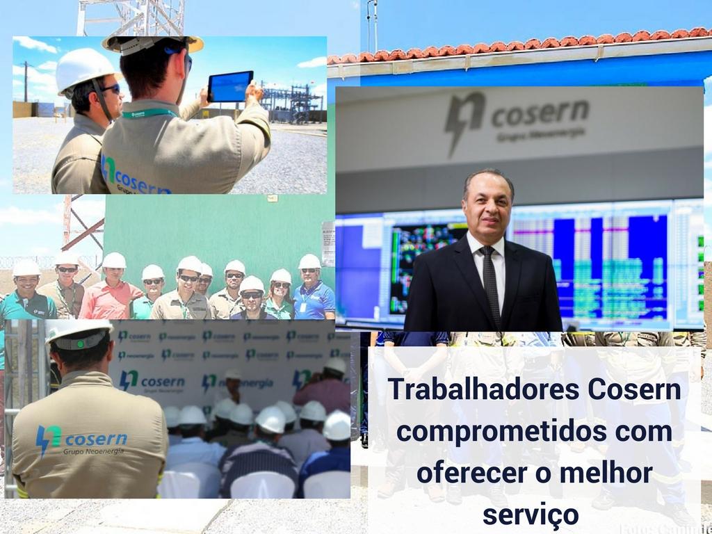 Trabalhadores Cosern comprometidos com oferecer o melhor serviço