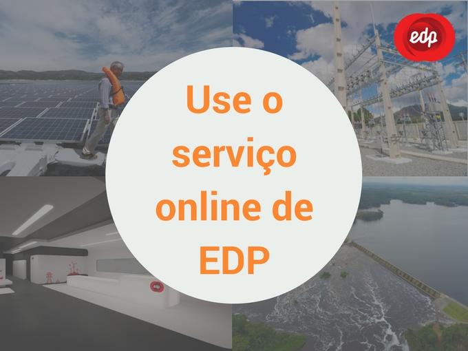 Use o serviço online de EDP