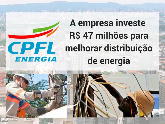 CPFL investe em distribuição de energia