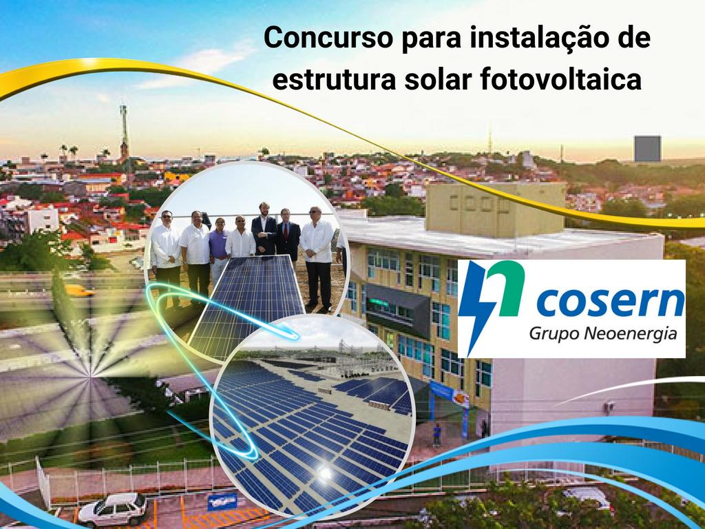 Instalação de estrutura solar fotovoltaica de Cosern