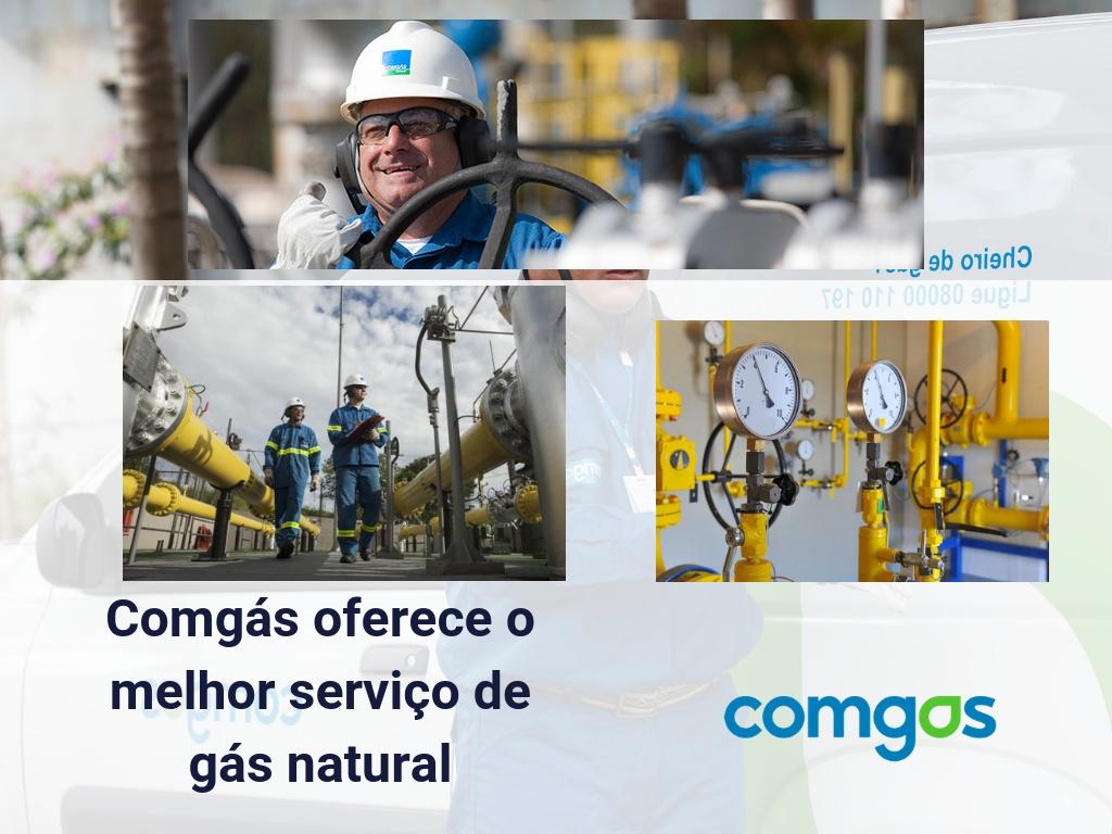 Comgas oferece o melhor serviço de gás natural