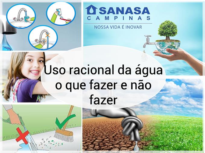 Uso racional da água de acordo com a Sanasa: o que fazer e não fazer