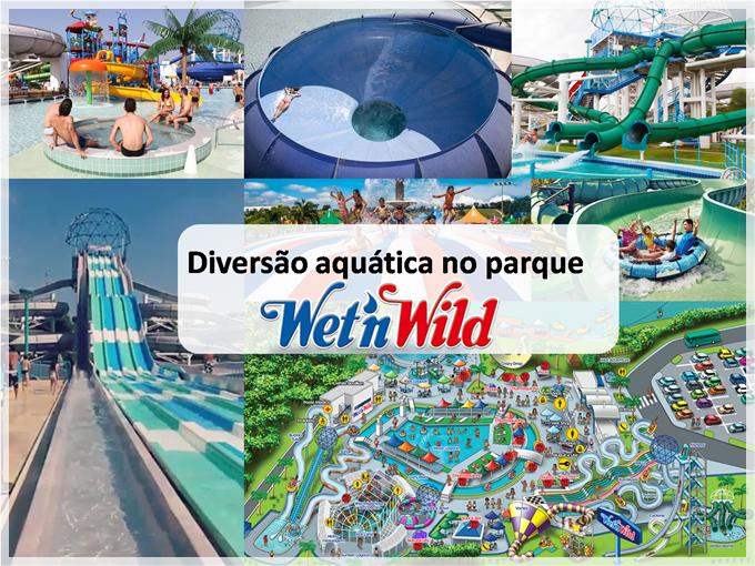 Diversão aquática no parque Wet n 'Wild em Campinas