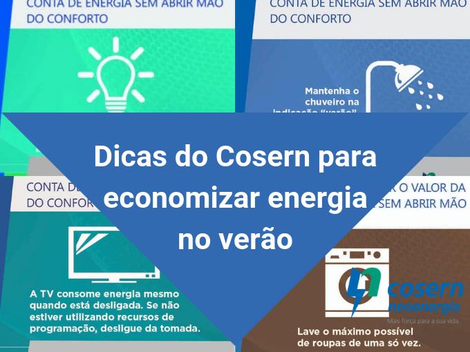 Dicas do Cosern para a eficiência energética no verão