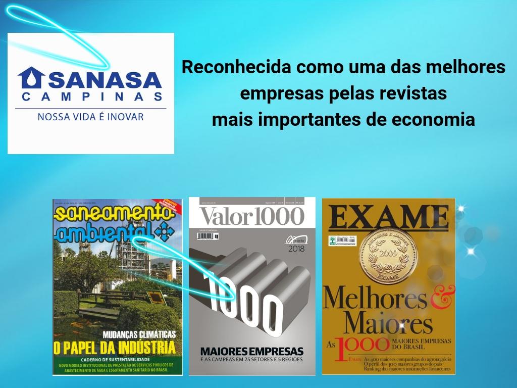 Sanasa reconhecida como uma das melhores empresas do país