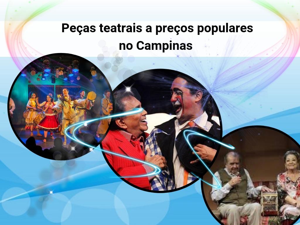 Peças teatrais a preços populares em Campinas